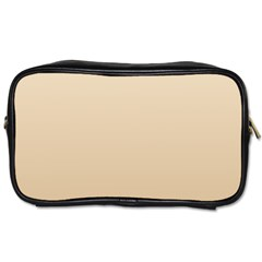 Champagne To Tan Gradient Travel Toiletry Bag (Two Sides)