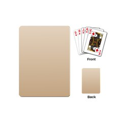 Champagne To Tan Gradient Playing Cards (Mini)