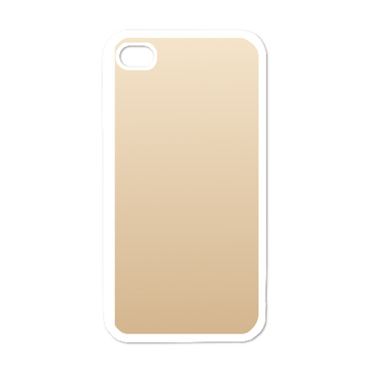 Champagne To Tan Gradient Apple iPhone 4 Case (White)