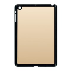 Champagne To Tan Gradient Apple iPad Mini Case (Black)