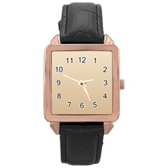 Champagne To Tan Gradient Rose Gold Leather Watch
