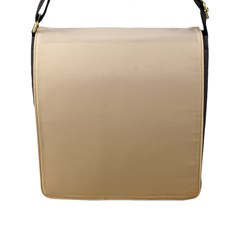 Champagne To Tan Gradient Flap Closure Messenger Bag (large)