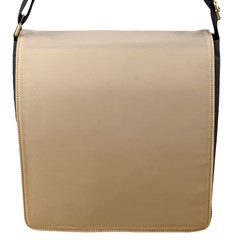 Champagne To Tan Gradient Flap closure messenger bag (Small)