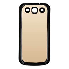 Champagne To Tan Gradient Samsung Galaxy S3 Back Case (black)
