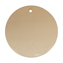 Tan To Champagne Gradient Round Ornament