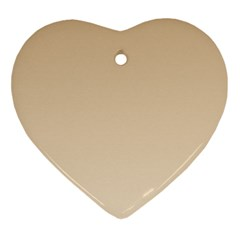 Tan To Champagne Gradient Heart Ornament