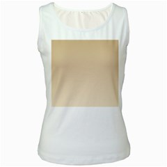 Tan To Champagne Gradient Womens  Tank Top (White)