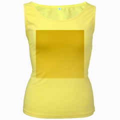 Tan To Champagne Gradient Womens  Tank Top (yellow)
