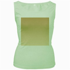 Tan To Champagne Gradient Womens  Tank Top (Green)