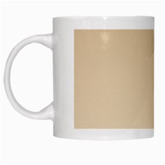Tan To Champagne Gradient White Coffee Mug