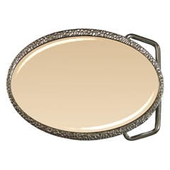 Tan To Champagne Gradient Belt Buckle (Oval)