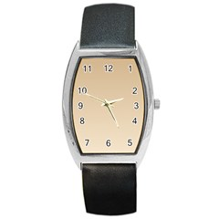 Tan To Champagne Gradient Tonneau Leather Watch