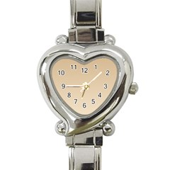 Tan To Champagne Gradient Heart Italian Charm Watch
