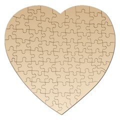 Tan To Champagne Gradient Jigsaw Puzzle (Heart)