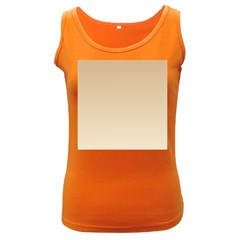 Tan To Champagne Gradient Womens  Tank Top (dark Colored)