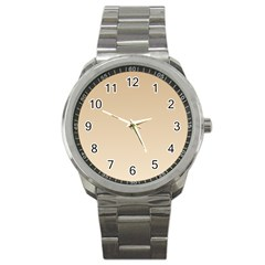Tan To Champagne Gradient Sport Metal Watch