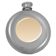Tan To Champagne Gradient Hip Flask (Round)