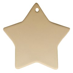 Tan To Champagne Gradient Star Ornament (two Sides)