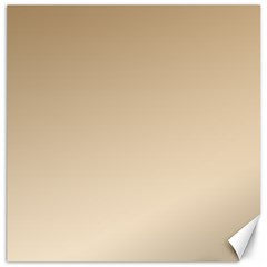 Tan To Champagne Gradient Canvas 12  X 12  (unframed)