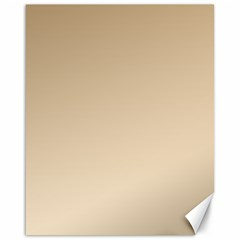 Tan To Champagne Gradient Canvas 16  x 20  (Unframed)