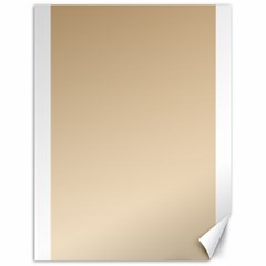 Tan To Champagne Gradient Canvas 18  x 24  (Unframed)