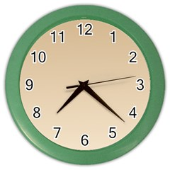 Tan To Champagne Gradient Wall Clock (Color)