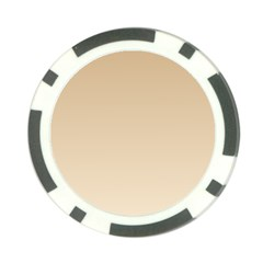 Tan To Champagne Gradient Poker Chip