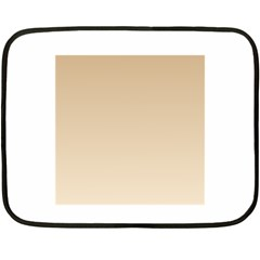 Tan To Champagne Gradient Mini Fleece Blanket (Two-sided)