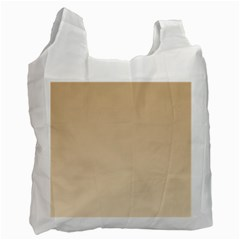 Tan To Champagne Gradient Recycle Bag (two Sides)