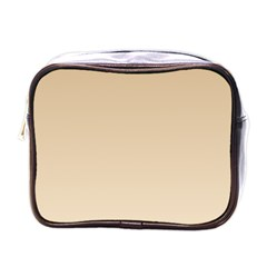 Tan To Champagne Gradient Mini Travel Toiletry Bag (One Side)
