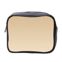 Tan To Champagne Gradient Mini Travel Toiletry Bag (Two Sides)