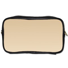 Tan To Champagne Gradient Travel Toiletry Bag (two Sides)