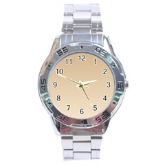 Tan To Champagne Gradient Stainless Steel Watch (men s)