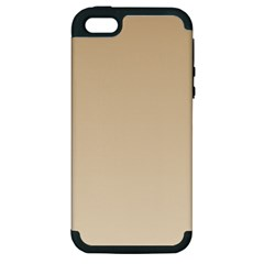 Tan To Champagne Gradient Apple iPhone 5 Hardshell Case (PC+Silicone)