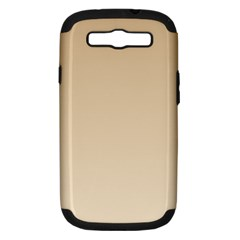 Tan To Champagne Gradient Samsung Galaxy S Iii Hardshell Case (pc+silicone)