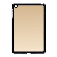 Tan To Champagne Gradient Apple Ipad Mini Case (black)