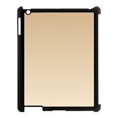 Tan To Champagne Gradient Apple iPad 3/4 Case (Black)