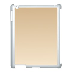 Tan To Champagne Gradient Apple iPad 3/4 Case (White)
