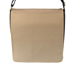 Tan To Champagne Gradient Flap Closure Messenger Bag (Large)