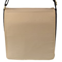 Tan To Champagne Gradient Flap Closure Messenger Bag (small)
