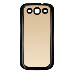 Tan To Champagne Gradient Samsung Galaxy S3 Back Case (black)