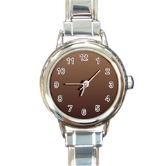 Chamoisee To Seal Brown Gradient Round Italian Charm Watch