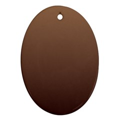 Chamoisee To Seal Brown Gradient Oval Ornament