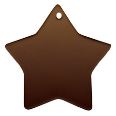 Chamoisee To Seal Brown Gradient Star Ornament