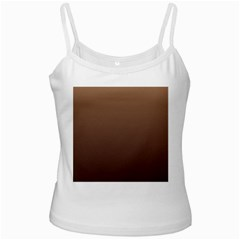 Chamoisee To Seal Brown Gradient White Spaghetti Tank