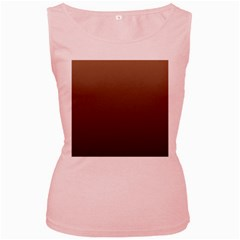 Chamoisee To Seal Brown Gradient Womens  Tank Top (pink)