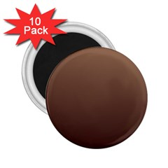 Chamoisee To Seal Brown Gradient 2.25  Button Magnet (10 pack)