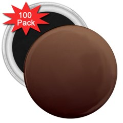Chamoisee To Seal Brown Gradient 3  Button Magnet (100 Pack)