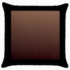 Chamoisee To Seal Brown Gradient Black Throw Pillow Case