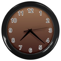 Chamoisee To Seal Brown Gradient Wall Clock (Black)